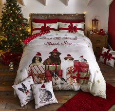 Catherine Lansfield Christmas Party Animals Duvet Cover Set