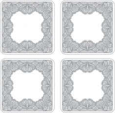 Catherine Lansfield Glamour Lace Coasters Set of Four