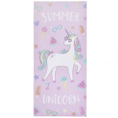 Catherine Lansfield Summer Unicorn Beach Towel - Multi