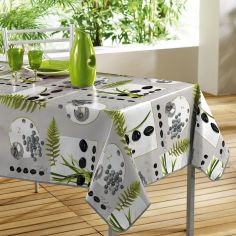 Jardin Zen Photoprint PVC Tablecloth - Grey