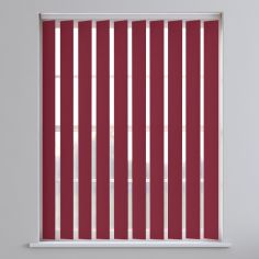 Bahamas Plain Blackout Vertical Blinds - Rose Red