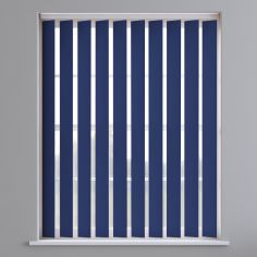 Bahamas Plain Vertical Blinds - Electric Blue