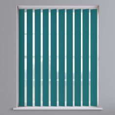 Bahamas Plain Blackout Vertical Blinds - Flower Blue