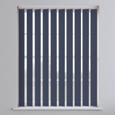 Bahamas Plain Blackout Vertical Blinds - Night Sky Blue