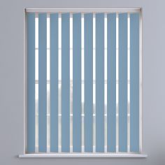 Bahamas Plain Blackout Vertical Blinds - Baby Blue