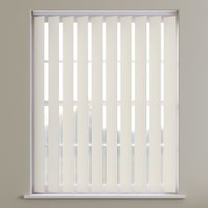 Bahamas Plain Blackout Vertical Blinds - Dark Cream