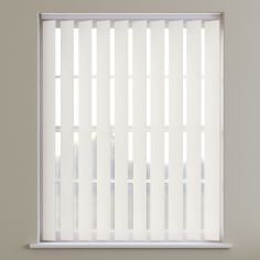 Bahamas Plain Blackout Vertical Blinds - Light Cream