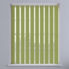 Bahamas Plain Blackout Vertical Blinds - Leafy Green
