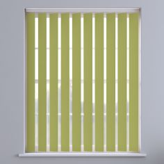 Bahamas Plain Vertical Blinds - Lime Green