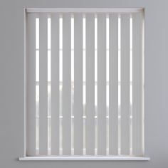 Bahamas Plain Blackout Vertical Blinds - Pale Grey