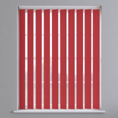 Bahamas Plain Blackout Vertical Blinds - Bright Red
