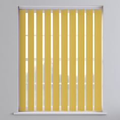Bahamas Plain Blackout Vertical Blinds - Lemon Yellow