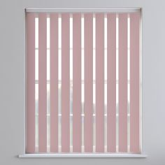 Bahamas Plain Blackout Vertical Blinds - Baby Pink