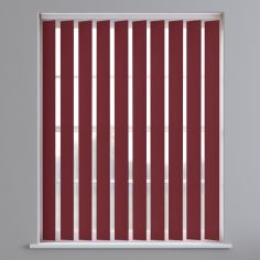 Bahamas Plain Vertical Blinds - Maroon Red
