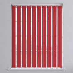 Bahamas Plain Vertical Blinds - Vivid Red