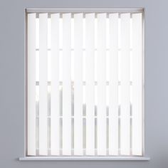 Bahamas Plain Vertical Blinds - Reflective White