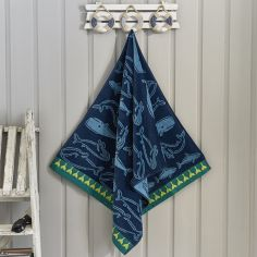Alaska Whale Beach Towel - Blue Multi