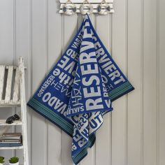 Reserved Seaside Beach Towel - Blue