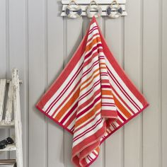 Marbella Stripe Beach Towel - Pink