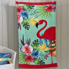 Flamingo Garden Beach Towel - Multi