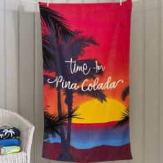 Pina Colada Sunset Beach Towel - Multi