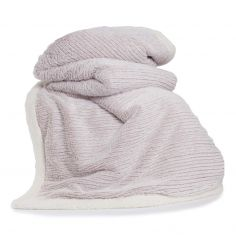 Arbroath Soft White Edged Throw - Pink