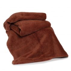 Roosevelt Plain Soft Throw - Chutney Brown