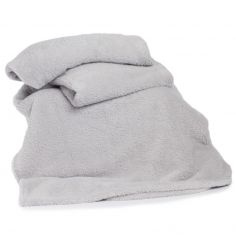 Roosevelt Plain Soft Throw - Silver Grey