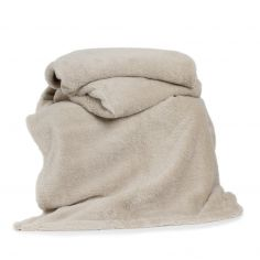 Roosevelt Plain Soft Throw - Biscuit Beige