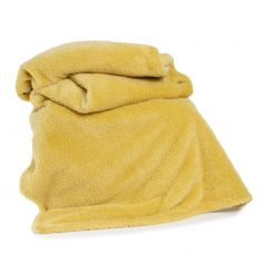 Roosevelt Plain Soft Throw - Ochre Yellow