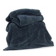 Roosevelt Plain Soft Throw - Petrol Blue