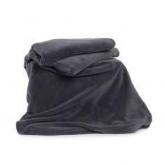 Snuggle Touch Soft Throw - Charcoal Grey