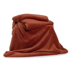 Snuggle Touch Soft Throw - Chutney Orange