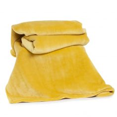 Hudson Plain Soft Throw - Ochre Yellow