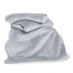 Hudson Plain Soft Throw - Silver Grey