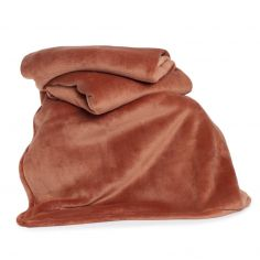 Hudson Plain Soft Throw - Chutney Orange