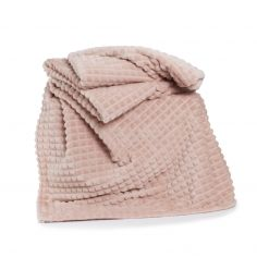 Stamford Plain Soft Throw - Pink