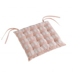 Carlota Cactus Quilted Seat Pad - Nude Natural