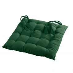 Pacifique Plain Quilted Seat Pad - Green