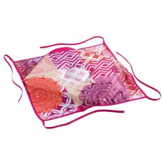 Flamenco Floral Seat Pad with 4 Flaps - Pink