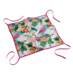 Flamingo Beach Seat Pad with 4 Flaps - Multi
