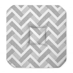 Themis Zig Zag Seat Pad with 4 Flaps - Grey White