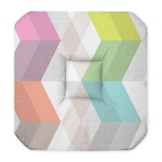 Ultragraphic Striped Seat Pad with 4 Flaps - Multi