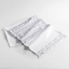 Lacanau Fouta 100% Cotton Tassel Throw - Grey