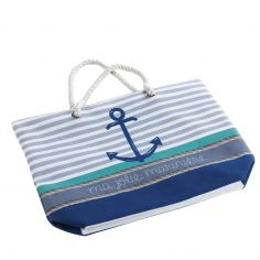 Matelot Striped Beach Bag - Blue