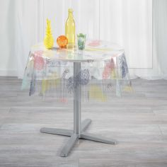 Ananas Summer Pineapples Transparent PVC Tablecloth - Multi