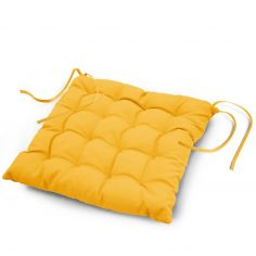 Essentiel Plain Quilted Set of 4 Seat Pads - Yellow