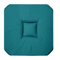 Panama Plain Set of 4 Seat Pads with 4 Flaps - Teal Blue