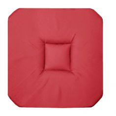 Panama Plain Set of 4 Seat Pads with 4 Flaps - Coral Pink