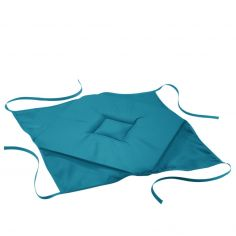 Essentiel Plain Set of 4 Seat Pads with 4 Flaps - Blue